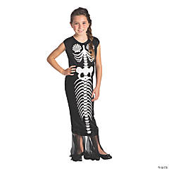 Girl's Mermaid Skeleton Costume