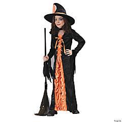 Girl's Orange Mystic Witch Costume - Large