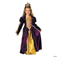 Girl's Regal Queen Costume - Large