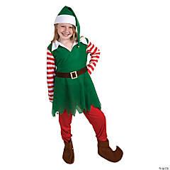Girl's Santa's Helper Elf Costume - Large