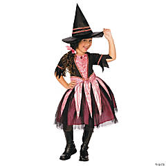 Girl's Sparkle Witch Dress Costume - Large