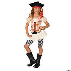 Girl's Swashbuckler Captain Pirate Costume - Medium