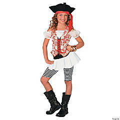 Girl's Swashbuckler Pirate Costume - Large