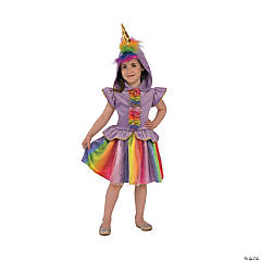 Girl's Unicorn Costume Dress - Medium