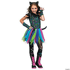 Girl's Wild Cat Costume - Large