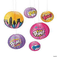 Girl Superhero Paper Lanterns