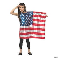 Girl's American Flag Dress Costume - Small