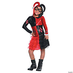 Girl's Batman™ Harley Quinn Hooded Dress Costume - Medium