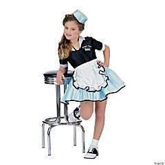 Girl's Car Hop Girl Costume - Small