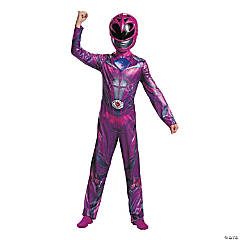 Girl's Classic Pink Power Ranger™ Movie Costume - Small