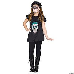 Girl's Day of the Dead Romper Costume