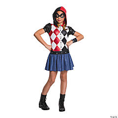 Girl's DC SuperHero Girls™ Harley Quinn Hooded Dress Costume - Small