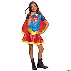 Girl's DC SuperHero Girls™ Supergirl Hooded Dress Costume - Medium