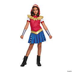 Girl's DC SuperHero Girls™ Wonder Woman Hooded Dress Costume - Medium