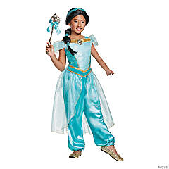 Girl's Deluxe Aladdin™ Jasmine Costume - Small