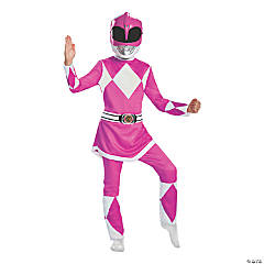 Girl's Deluxe Mighty Morphin Pink Power Ranger Costume - Medium