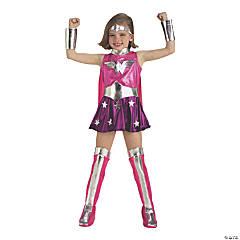 Girl's Deluxe Pink Wonder Woman Costume - Medium
