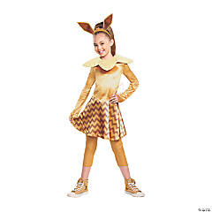 Girl's Deluxe Pokemon Eevee Costume - Small