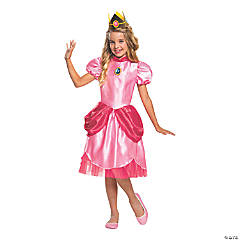 Girl's Deluxe Princess Peach Costume - Large
