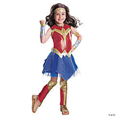 Girl's Deluxe Wonder Woman Costume - Large