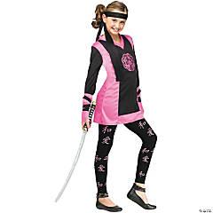 Girl's Dragon Ninja Costume - Medium