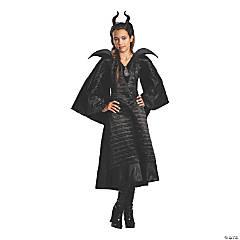 Girl's Maleficent Christening Black Gown Costume - Medium