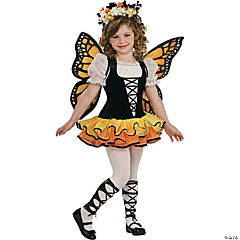 Girl's Monarch Butterfly Costume - Large