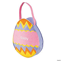 Girls' Personalized Easter Egg Bag