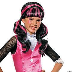 Girl's Pink & Black Draculaura Wig