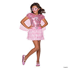 Girl's Pink Supergirl Tutu Dress Costume - Medium