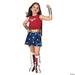 Girl's Premium Wonder Woman Costume - Medium