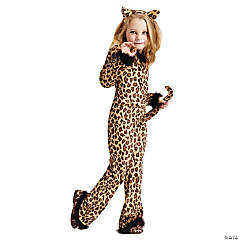 Girl's Pretty Leopard Costume - Medium