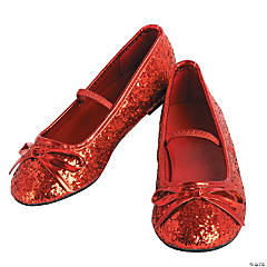Girl's Red Ballet Shoes - Large