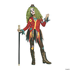 Girl's Rowdy Clown Costume - Extra Large