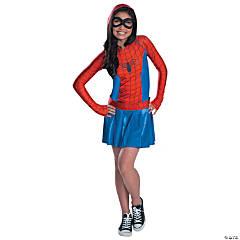Girl's Spidergirl Hoodie Dress Costume - Large