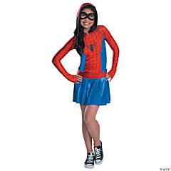 Girl's Spidergirl Hoodie Dress Costume - Medium
