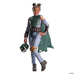 Girl's Star Wars™ Classic Boba Fett Costume - Small