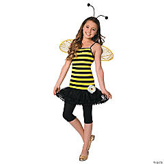 Girl's Sweet as Honey Bee Costume - Large