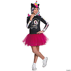 Girl's Tokidoki Día de los Muertos Caramelo Unicorno Costume - Medium