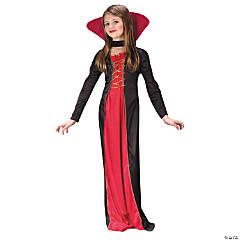 Girl's Victorian Vampiress Costume - Large