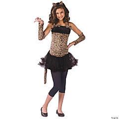 Girl's Wild Cat Costume - Medium