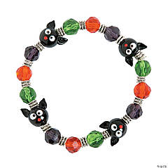 Glass Black Cat Bracelet Craft Kit