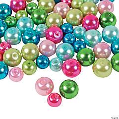 Glass Bright Pearl Bead Mix