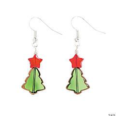 Glass Christmas Tree Earring Craft Kit