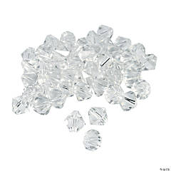 Glass Clear Crystal Bicone Beads - 8mm