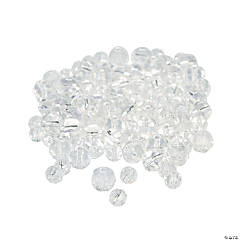 Glass Clear Cut Crystal Round Beads - 4mm-6mm