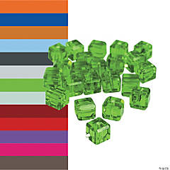 Glass Crystal Cube Beads 8mm
