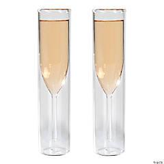 Glass Cylinder Champagne Flutes