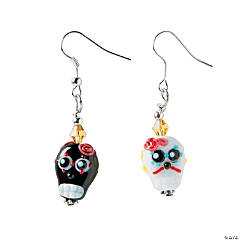 Glass Day of the Dead Earring Craft Kit