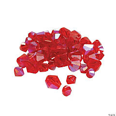 Glass Garnet Aurora Borealis Cut Crystal Bicone Beads - 4mm-6mm